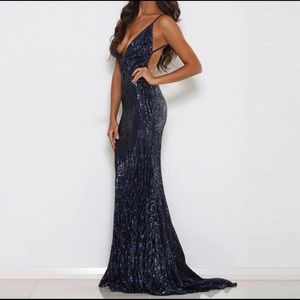 Gorgeous blue sequin gown - NWOT